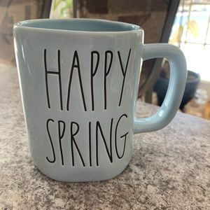 Rae Dunn Blue Happy Spring Mug